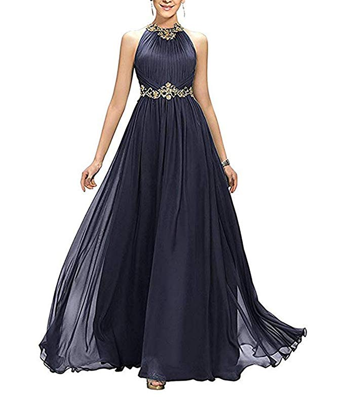 Women's A-Line Beading Pleats Prom Dress Bridesmaid Dress Tulle Evening Gown Dress