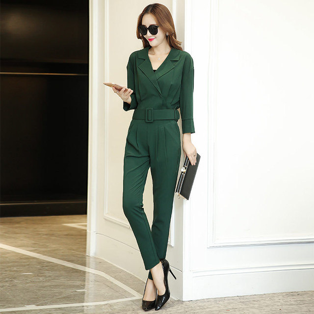 In the spring of 2017 new Korean women's suits small fragrant autumn ladies leisure two sets of fashion
