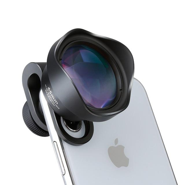 ULANZI 65mm טלה עדשה עבור iPhone, HK 4D סופר רחב זווית Fishyeye נייד מצלמה עדשה עבור iPhone סמסונג Huawei Sony אנדרואיד