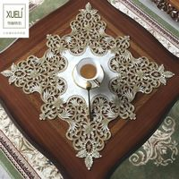 square lace mantel Embroidery Table Runner Fabric Tea table cloth,Table mat table Cover decoration toalha de mesa tapetes