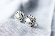 New 925 Sterling Silver Square Pave Zircon Wedding Earrings For Women Christmas Gift Fashion Jewelry E160801