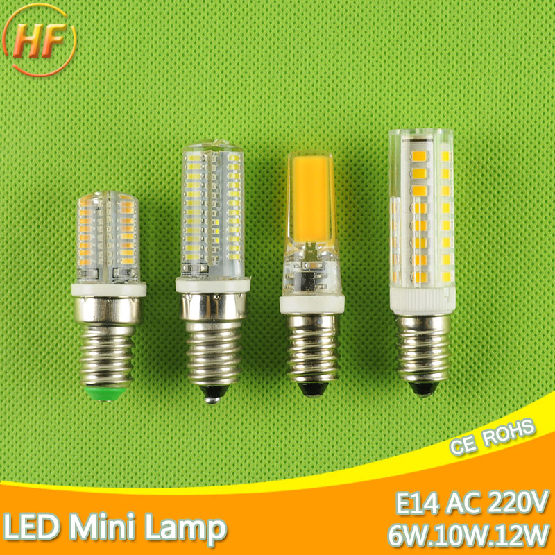 Mini E14 LED Bulb Light 6W 9W 10W 12W 220V Led Lamp E14 Cool Warm White Candle Spotlight Lampada Ampoule Bombilla Lampara candle led bulb e14 9w 12w aluminum shell e14 led light lamp 220v golden silver cool warm white ampoule lampara led smd 2835