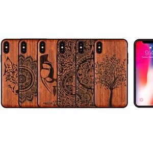 Image 5 - Nowość dla iPhone XS Max etui szczupła drewniana tylna pokrywa TPU zderzak skrzynka dla iPhone XS XR X iPhone XS Max etui na telefony