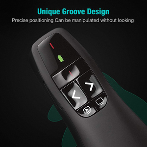 Image 5 - Rovtop mando a distancia inalámbrico USB R400, 2,4 GHz, PPT, portátil, de mano, presentador, mando a distancia, bolígrafo láser rojo para Powerpoint Z2