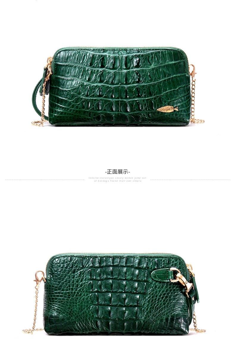 Yuanyu New crocodile carteira de couro estilo