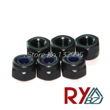 100pcs/lot  M2 M2.5 M3 M4 M5 M6 M8 M10 M12  DIN985  Black color Lock nut Carbon steel lock nut Nylock Self Locking Hex Nuts
