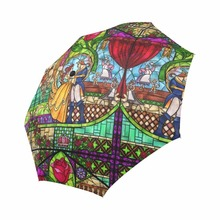 цены Princess and Prince Rose Custom Umbrella Waterproof Sun Rain 100% Fabric Aluminium High-Quality Foldable Umbrella