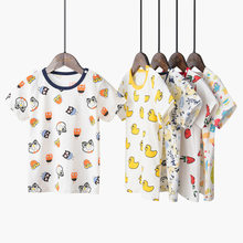 New Kids Boy Girls for T Shirt Cotton Cartoon Watermelon Fox Cute Print Clothes Children Boys T-shirt Baby Tops 2 3 4 5 6 Year(China)
