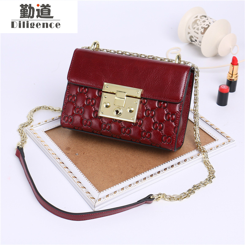 Mini Genuine Leather Women Shoulder Bags Fashion Crossbody Box Bags 2017 Chains Vintage Famous Luxury Brand Designer Style