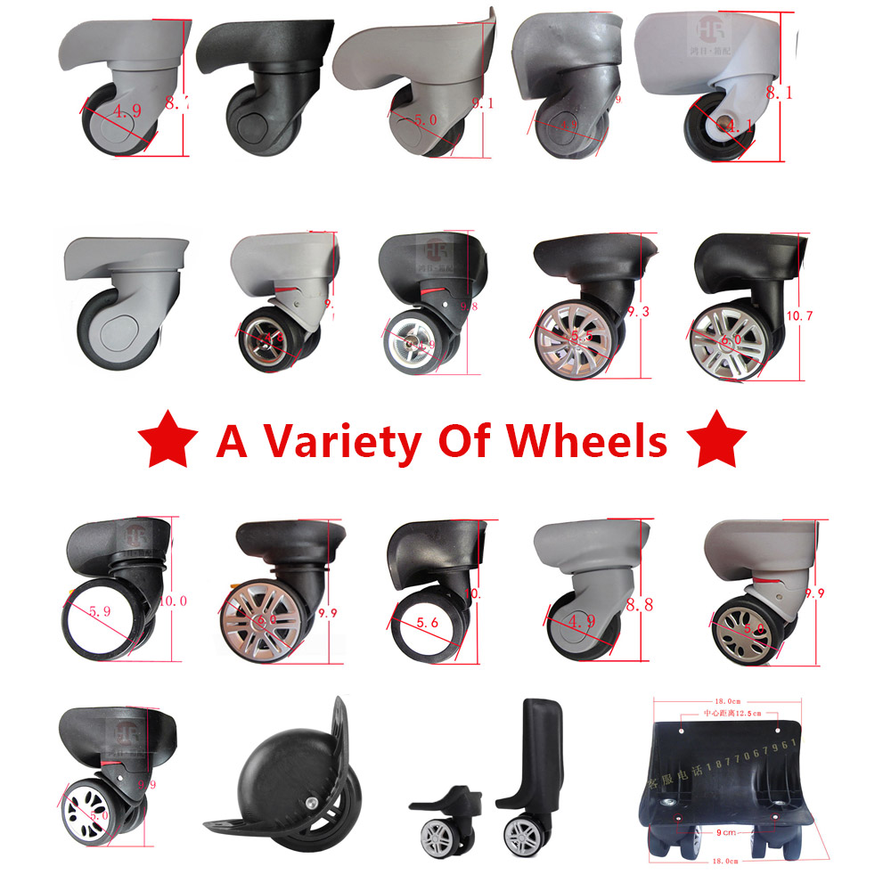 Replacement Luggage double Wheels Repair Travel Luggage Wheel accessories Spinner wheel Replacement wheels for suitcases