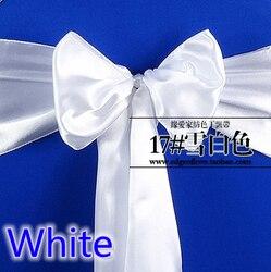 Biały kolor wysokiej jakości satyna sash kokardka na krzesło na pokrowce na krzesła sash spandex party i dekoracje ślubne hurtowo|bows for chairs|satin sashchair sashes -