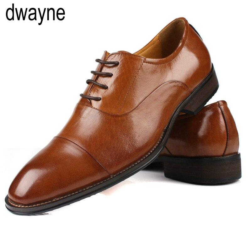 b2de4bff Retro Hombres Negocios Zapatos Vestir Marca Grano Oxford Cuero Completo  marrón Para De Negro Charol BPFB0