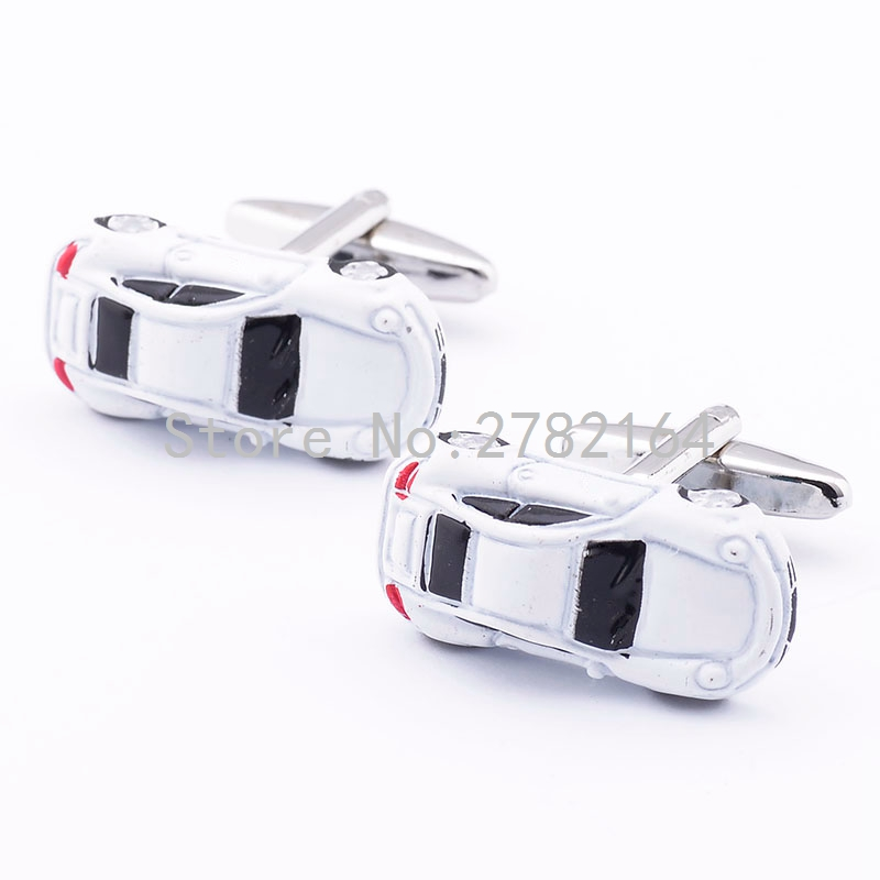 White car modelling of the lacquer that bake cufflinks French men shirts cufflinks sleeve nail factory direct sale free shipping