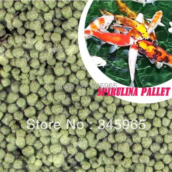 Ingyenes szállítás Koi takarmány gazdagított spirulina halétel 500g magas fehérje-csíra