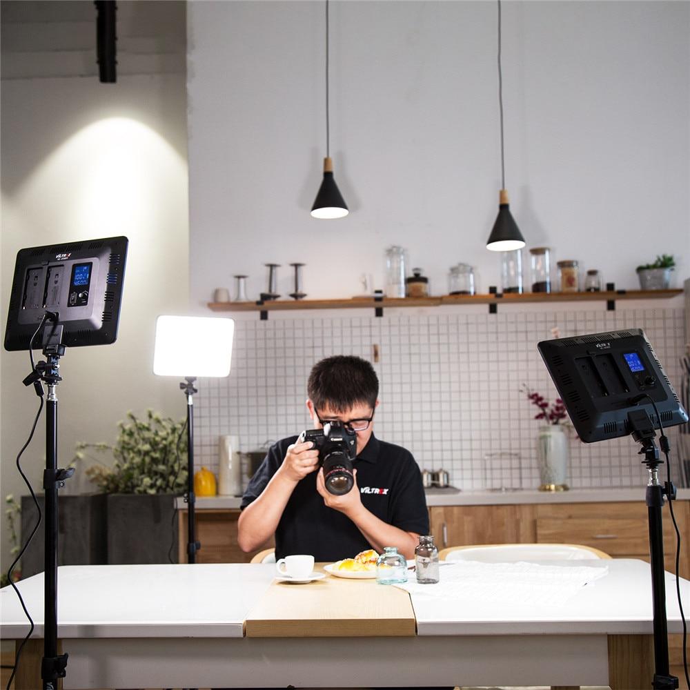 VILROX 3 pcs VL-200T bi-couleur Dimmable télécommande Sans Fil A MENÉ LA Lumière Vidéo Kit D'éclairage De Panneau + 75 Lumière support pour tournage en studio
