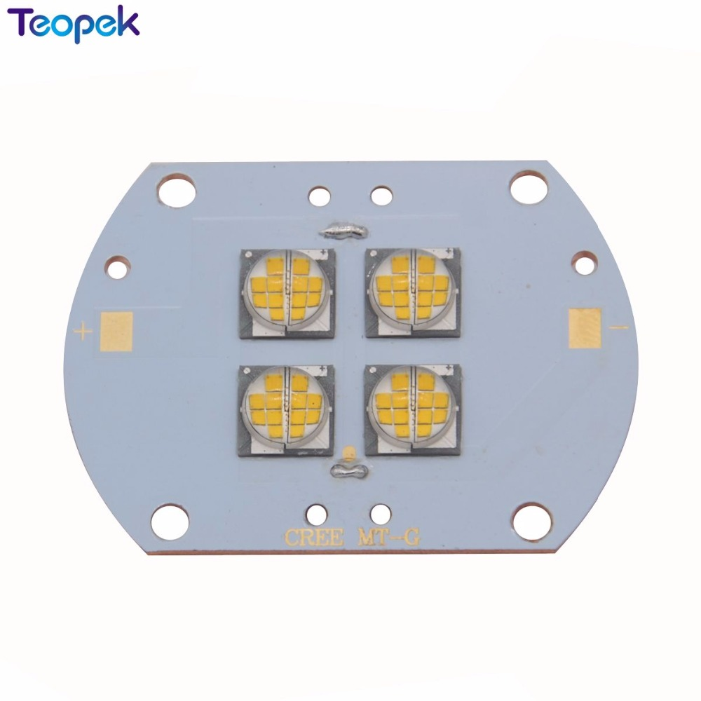 CREE MTG MT-G Warm White 2700K 4 LEDS 12V / 24V 96W High Power Led Emitter Bulb Lamp Light On Copper PCB Board 2pcs lot us cree cxa 3070 beads 117w high power led chip 2700 3000k 5000 6500k pure white warm white
