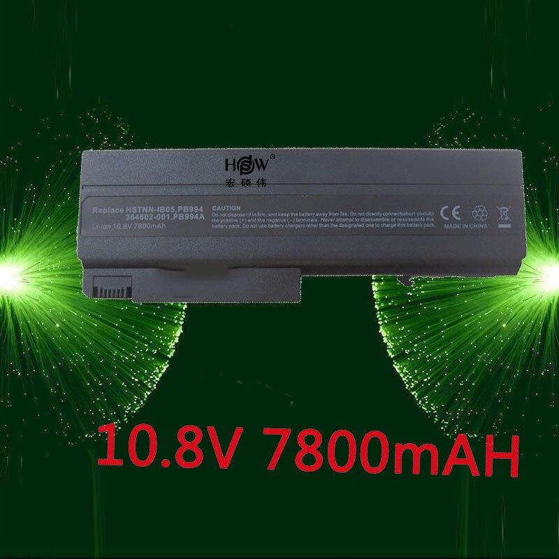 HSW 7800MAH Battery for HP Compaq 6910p 6510b 6515b 6710b 6710s 6715b 6715s NC6100 NC6105 NC6110 NC6115 NC6120 NX6405 HSTNN-DB05 цены
