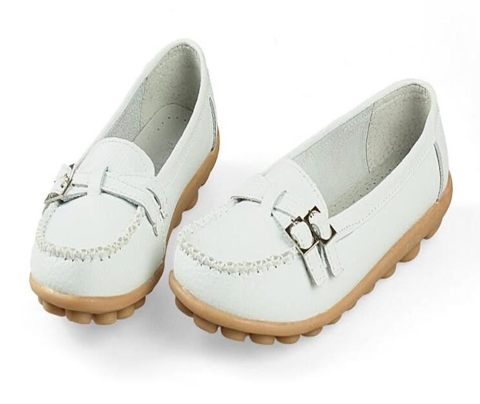 New Casual Shoes Women Genuine Leather Shoes Slip On Women Flats Loafer Comfort Shoes Woman Moccasins Gladiator Shoes size 35~41 beautoday genuine leather crystal loafer shoes women round toe slip on casual shoes sheepskin leather flats 27038