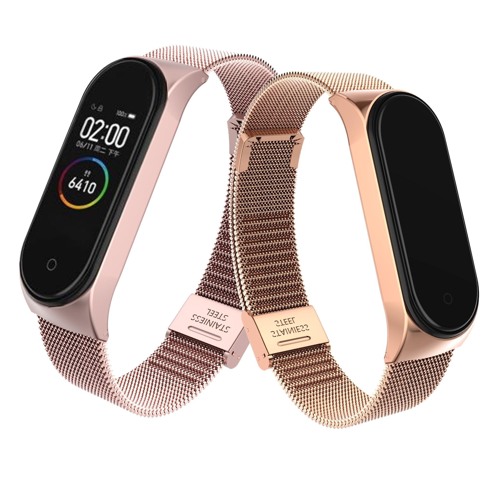 Mi Band 4 Bracelet poignet métal sans vis en acier inoxydable mi band 4 bracelets Pulseira mi band4 pour Xiao mi Band 4