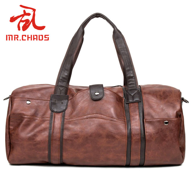 a0677653481c Men  s retro PU Leather Sports Bag Gym Bag Fitness Sport Bags Duffel Tote  Travel Shoulder Handbag Male Bag BG001