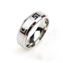 Титана silver очаровательный band обручальное матовый кольца нержавеющей кольцо стали изделия