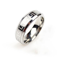Charming High Quality Silver Stainless Steel Male Ring Fashion 6mm Titanium Band Brushed Wedding Ring Jewelry