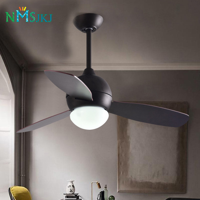 Vintage Ceiling Fan With Light And Remote Control Industrial Lighting Restaurant Living Room Black Ceiling Fan