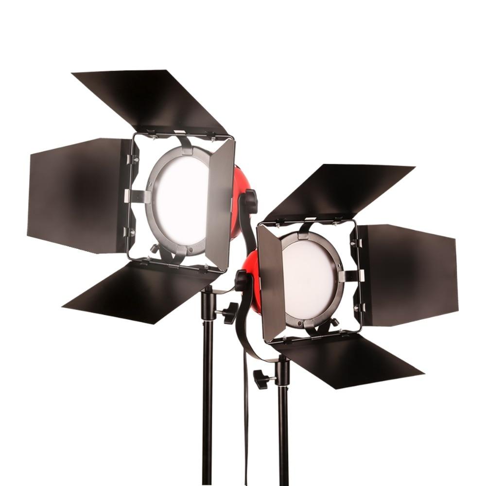 лучшая цена GSKAIWEN High CRI 92+ LED Photography Lights Camera Light Professional Studio Tripod Brightness Adjustable Video Fill Light kit