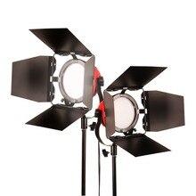 Gskaiwen高cri 92 + led写真ライトカメラライトプロのスタジオ三脚輝度調整可能なビデオ補助光キット