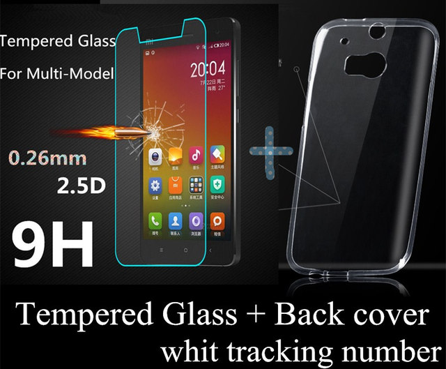 Lenovo a319 case Ultrathin clear TPU phone Cases cover Lenovo A319 + Tempered Glass Real Screen Protector with tracking number