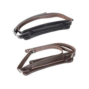 Image 1 - ブラウンと黒牛革パッド入りギターストラップソフト耐久性のある調節可能な兵士厚みエレクトリックアコースティックギターベースベルト