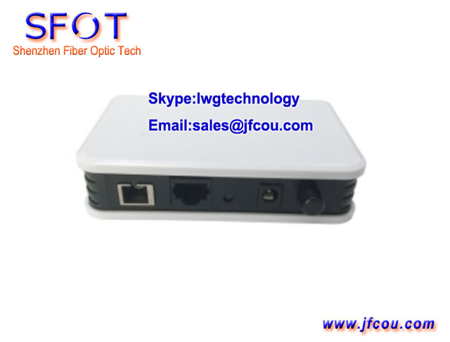 1GE EPON ONU, One Port ONU, SC/UPC PON port, can work with Huaway, ZTE and Fiberhome OLT