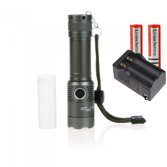 XML T6 2000 Lumens 3 Modes Rechargeable Flashlight Torch Lamps Lantern For Hunting+Battery Charger+18650 Li-ion battery 3pcs battery charger 7 4v rechargeable li ion battery for olympus e300 e500 e3 e5 e520 e510