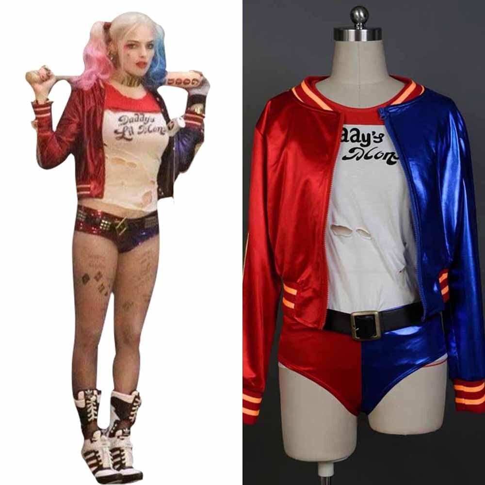 Batman Harley Quinn Cosplay Costumes Woman Coats Femme Jacket Chamarras De Batman Para Mujer Superstar Town Halloween Sets