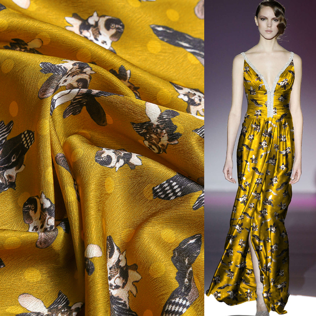 2019 Rushed Woven African Fabric Tissus Au Metre Free Shipping 19 New Silk Satin Skirt Garment In Spring And Summer Fabrics