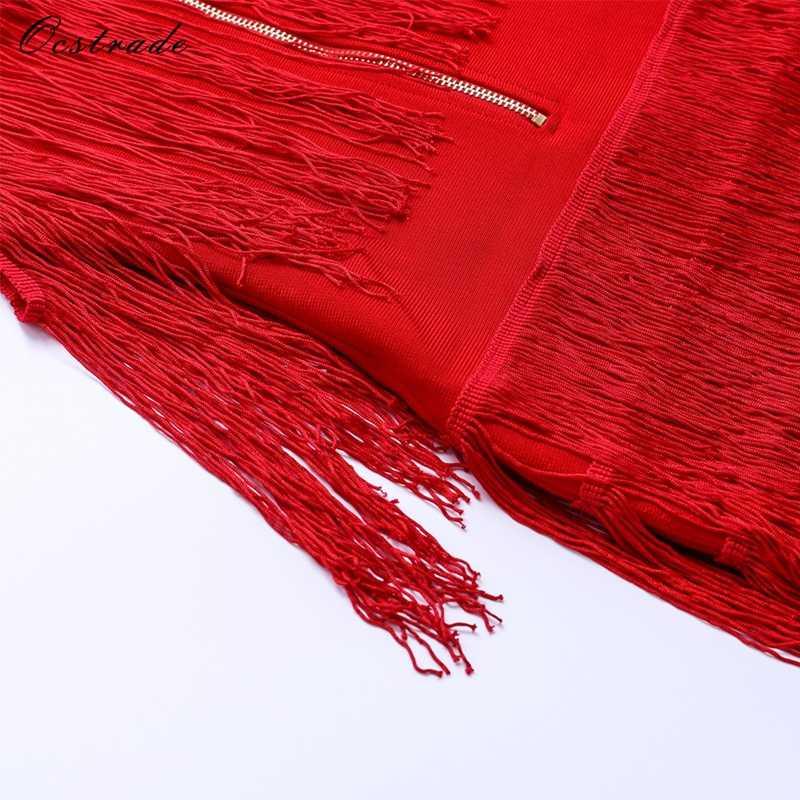 Ocstrade Sexy gland robe 2017 nouveauté élégant rouge Sexy dames Mini moulante robes de soirée blanc noir