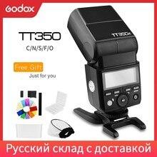 Godox TT350C TT350N TT350S TT350F TT350O Flash 2.4G HSS TTL bezprzewodowa lampy Speedlite Flash dla Canon Nikon Sony Fuji Olympus
