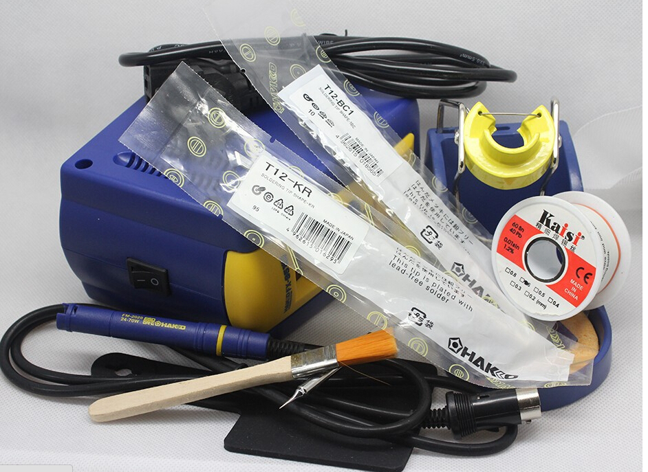 HAKKO FX-951 fx951 Digital Soldering Station/Solder Soldering Iron 75W Replace hakko 936+T12-I 110V or 220V with free gift dhl free shipping hot sale 220v hakko fx 888 fx888 888 solder soldering iron station with 10 free tips 900m t