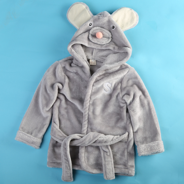 Fashion Newborn baby boy and girl cotton coats cartoon elephant coat Hooded Bathrobe Kids Bath Robe Infant