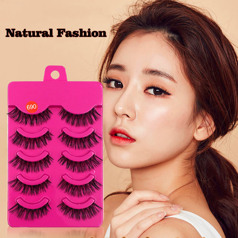 5 Pairs Handmade Messy Natural 3d Mink Eyelashes Natural False Eyelashes Lashes Soft Fake Eyelashes Extension Makeup Kit Do You Want To Buy Some Chinese Native Produce?