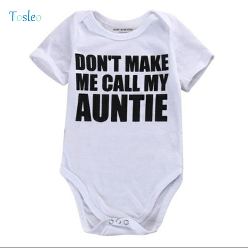 2018 Baby   Rompers   White Baby Girl Clothes Summer Funny Letter Printed Baby   Rompers   New Born Clothes Toddler Costumes