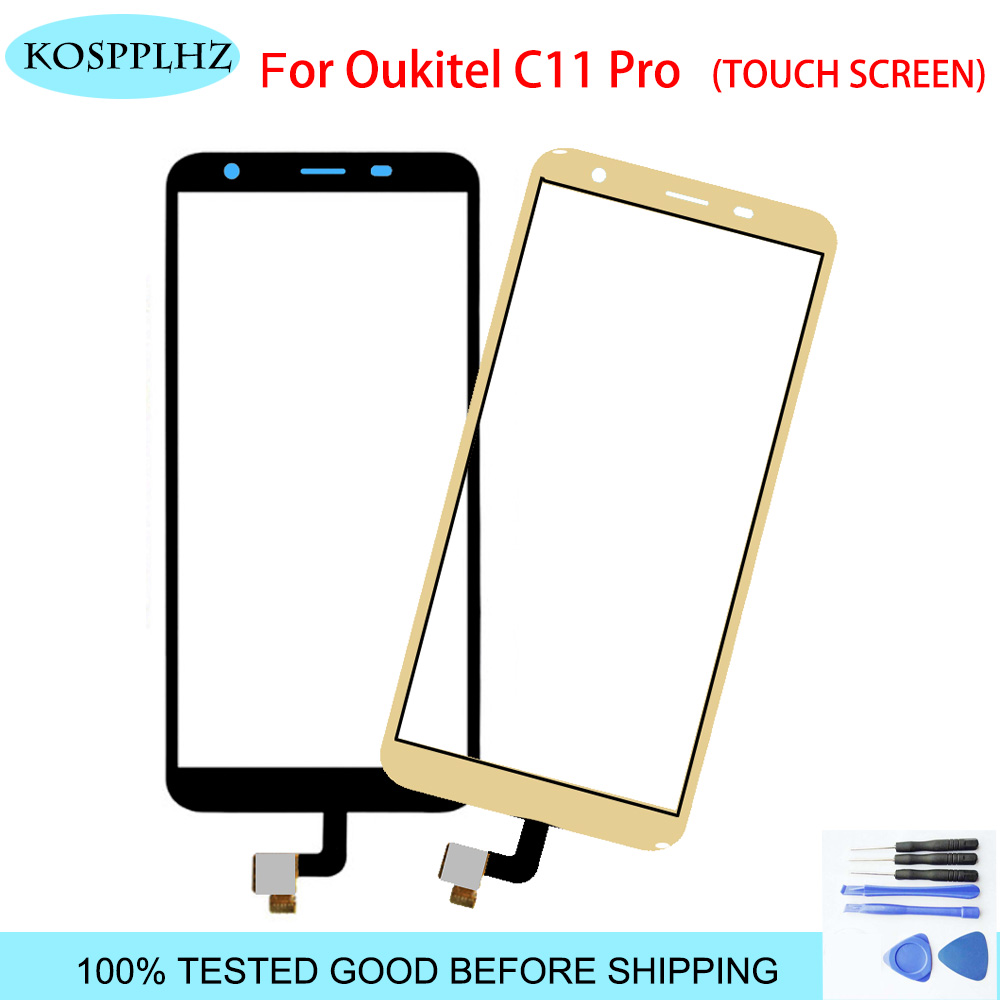 KOSPPLHZ 5.45 inch for <font><b>OUKITEL</b></font> C11 PRO Touch Screen Glass 100% tested Digitizer Glass Panel Touch Replacement For <font><b>C11pro</b></font> c 11 image