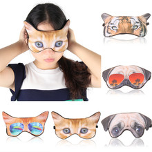 Hot Sale 3D Cartoon Printing Eye Patches Cute Animal Sleeping Masks SleepEye Mask Eye Care Shade Blindfold Eyes Cover Relaxing(China)