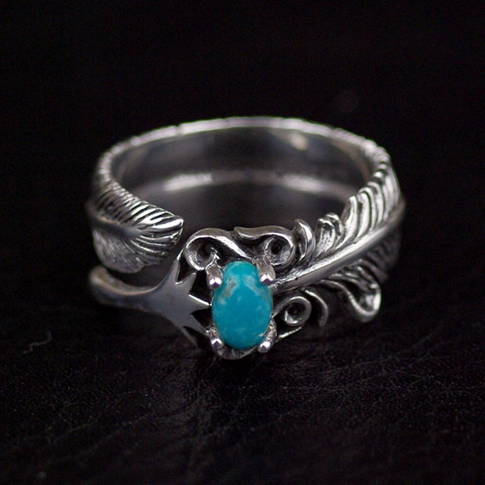 Thailand imports silver ring opening feathers thailand sterling silver indian patron saint feathers ring