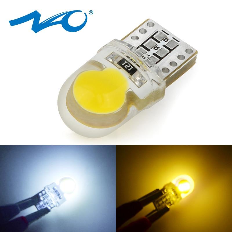 NAO Trunk Auto-Interior-Lights W5W T10 Led White 6000K Yellow Led-Bulb Side-Lamp Light-Turn