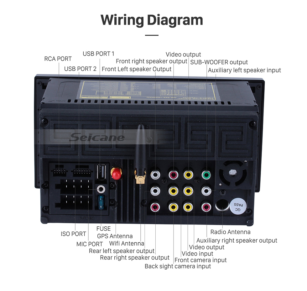 Seicane 7 Inch Hd Android 60 Car Dvd Player Gps Navigation Toyota Corolla 2006 Fuse Box Radio Product Highlight