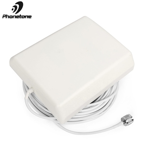 Image 2 - 800 2500MHz 9dBi 2G 3G 4G Lte Antenna Indoor Directional Panel Antenna N Male Connector and 5m cable for Repeater Signal Booster