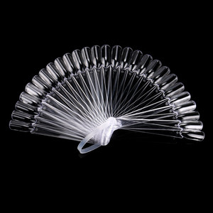 Image 3 - 32 個ネイルアートスティックディスプレイクリア扇形偽のヒントホイールポーランド UV ゲル PracticeTransparent 折りたたみマニキュアツール 9.6