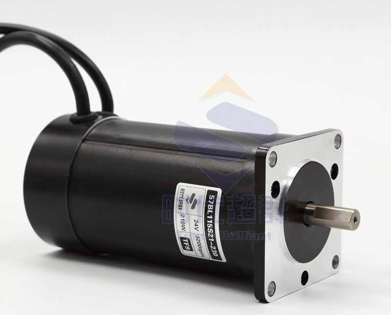 0 7n m 24v 210w 3000rpm 57 brushless dc holzer motor big for Low speed dc motor 0 5 6 volt