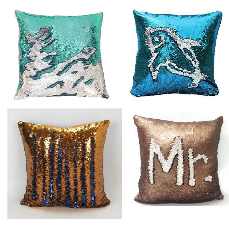 BeddingOutlet Mermaid Sequin Cushion Cover Magical შეცვლა - სახლის ტექსტილი - ფოტო 2